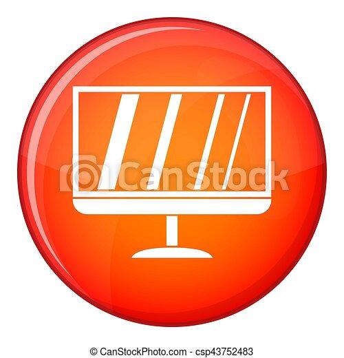 TV icon, flat style - csp43752483