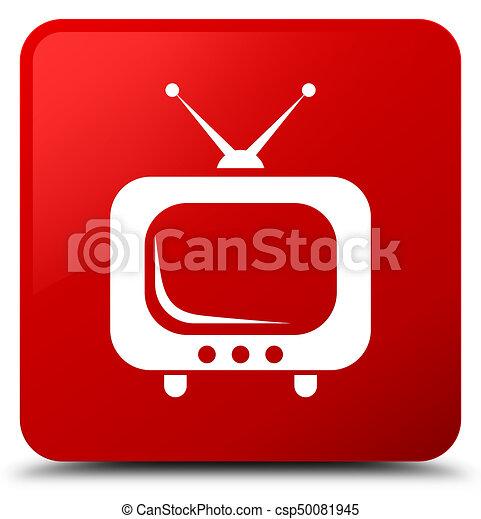 TV icon red square button