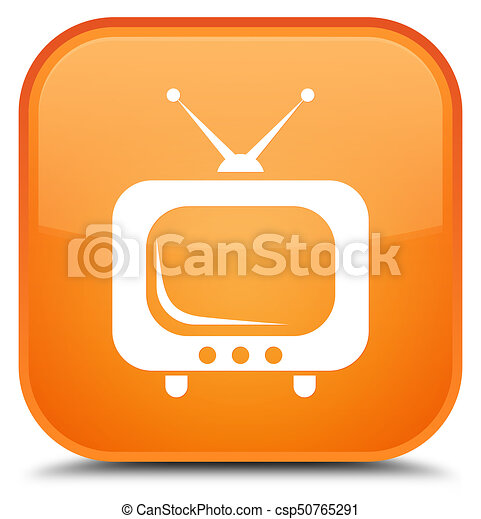 TV icon special orange square button - csp50765291
