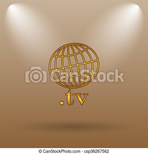 .tv icon - csp36267562