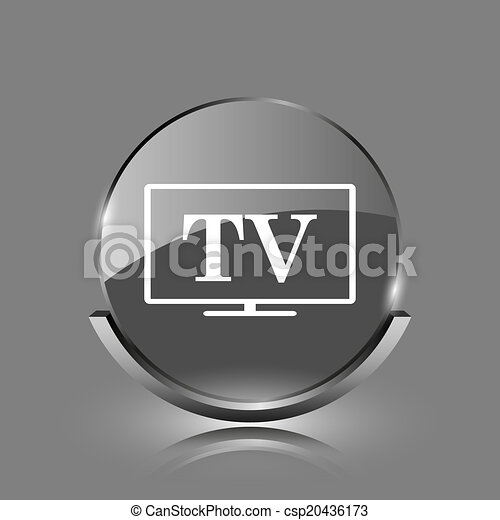 TV icon - csp20436173