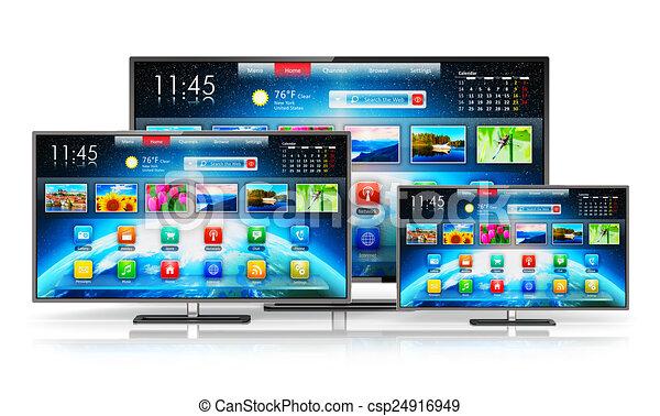 tv, intelligent - csp24916949