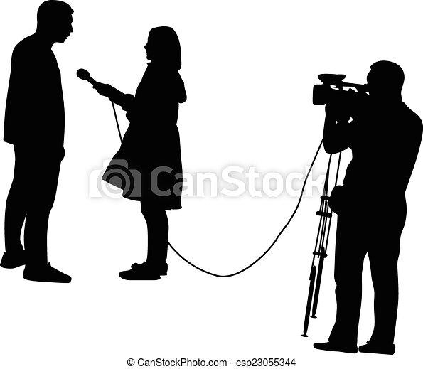 tv interview - csp23055344
