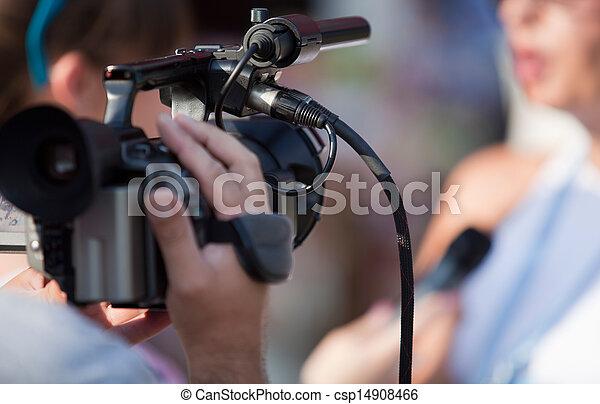 tv interview - csp14908466