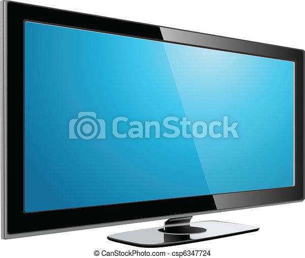 tv, lcd, 血しょう - csp6347724