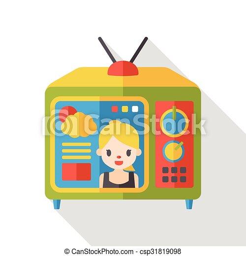 TV monitor flat icon - csp31819098