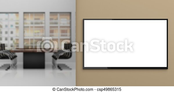 Tv Monitor On A Wall