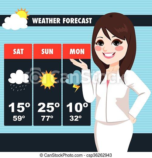 TV News Weather Reporter Woman - csp36262943