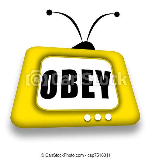tv, obéir - csp7516011