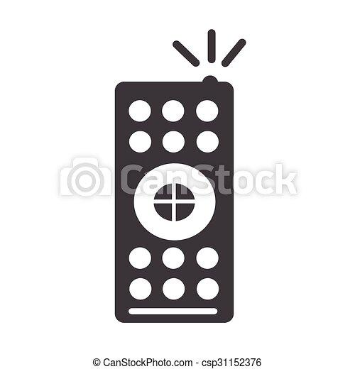 remote control drawing. vector - tv remote control icon drawing