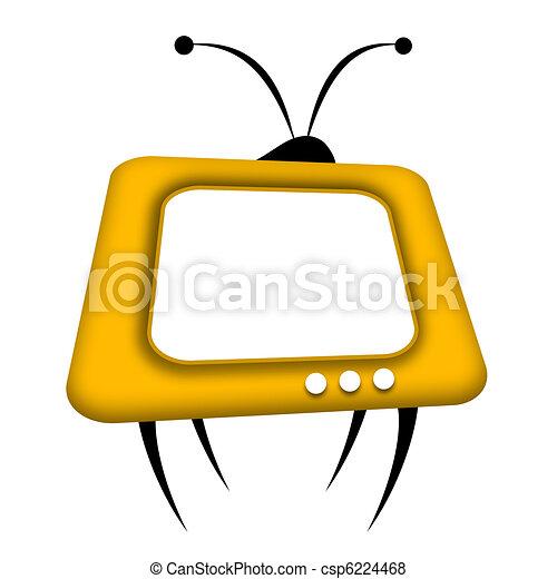tv, retro - csp6224468