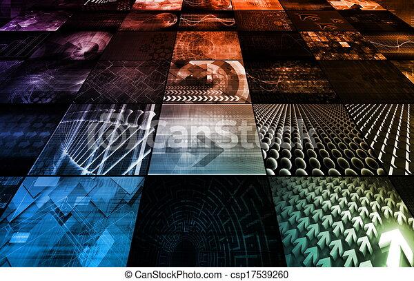 TV Screen Wall - csp17539260