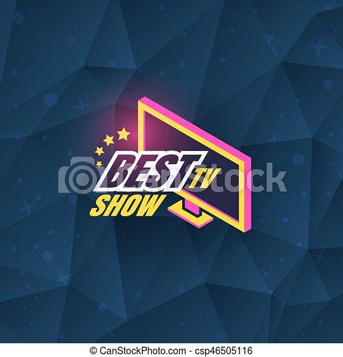 Tv show logo template design vector illustration vector for Find and design tv show