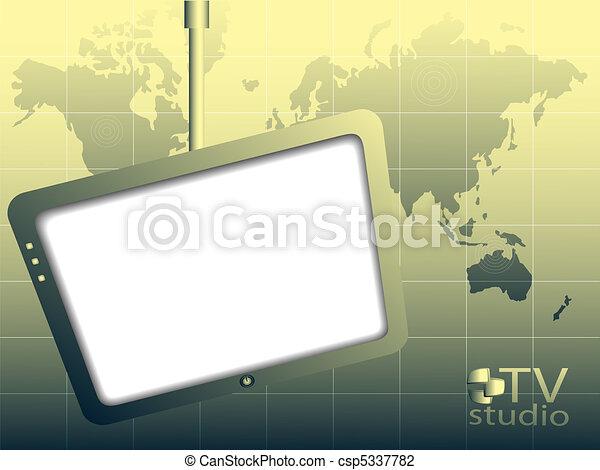 TV studio - csp5337782