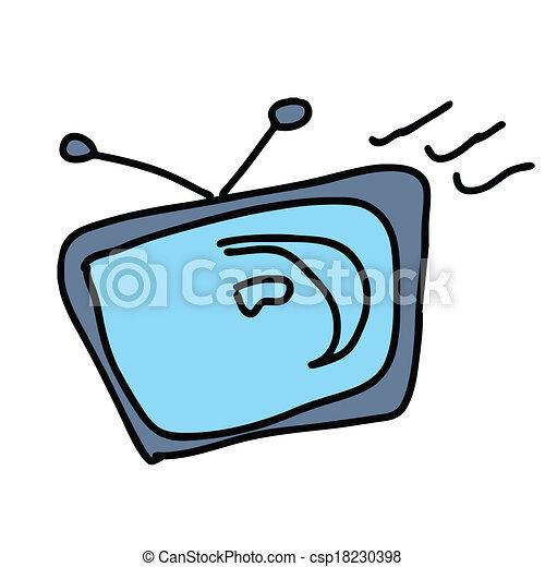 tv television retro icon vintage old screen design video display movie vector illustration