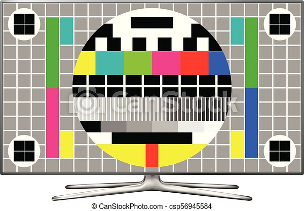 Tv Test Pattern Screen Test Screen On Modern Lcd Television Vector Adorable Test Pattern