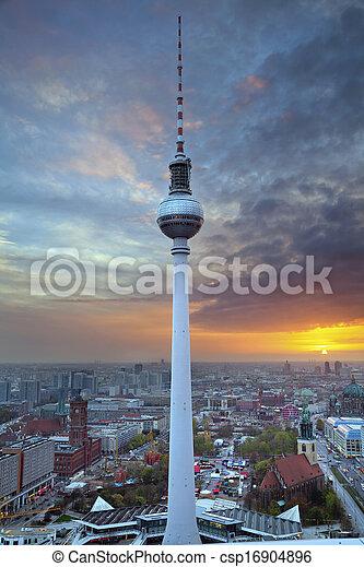 TV Tower in Berlin. - csp16904896
