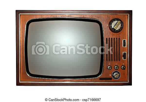 tv, vecchio, televisione - csp7166697