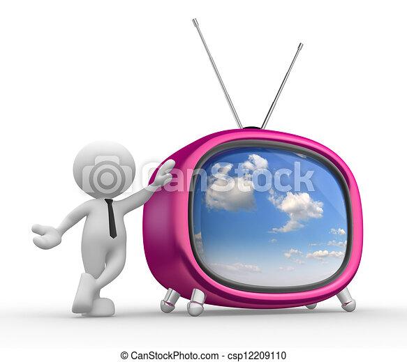 tv, vieux - csp12209110