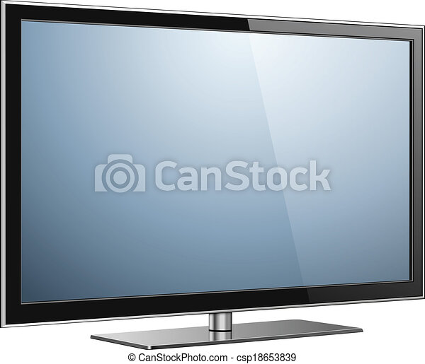 Smart tv icon tv screen with the dark frame led Vector Image | 392x450