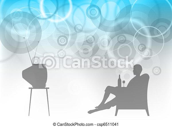 tv watching - csp6511041