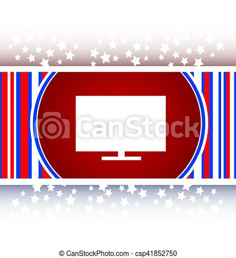 tv web icon button - csp41852750