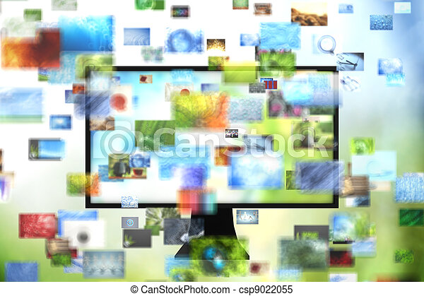 Tv with images - csp9022055