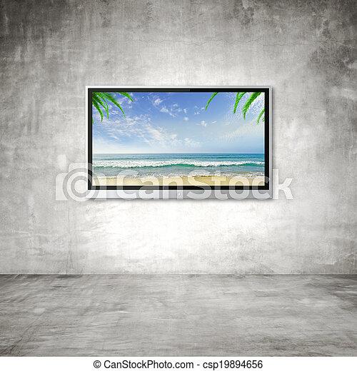 TV with ocean - csp19894656