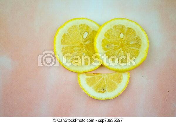 twórczy, jadło, zdrowy, cytrynowa kromka - csp73935597