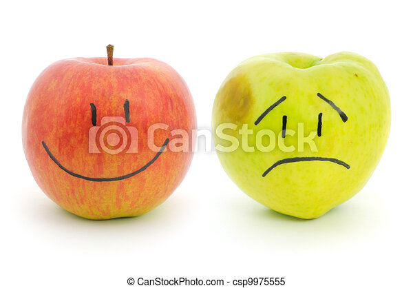 twee, emoties, appeltjes  - csp9975555