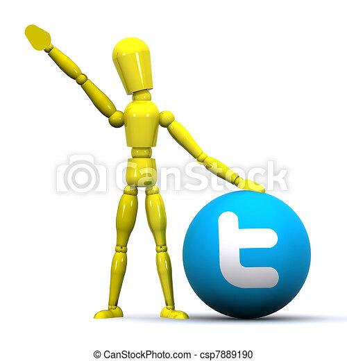 Tweeting Concept - csp7889190