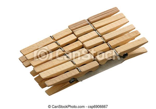 Twelve clothespins - csp6906667