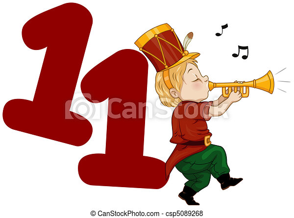 twelve days of christmas illustration of a piper playing stock rh canstockphoto com 12 days of christmas clipart free twelve days of christmas clip art