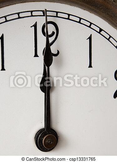 Twelve o'clock - csp13331765