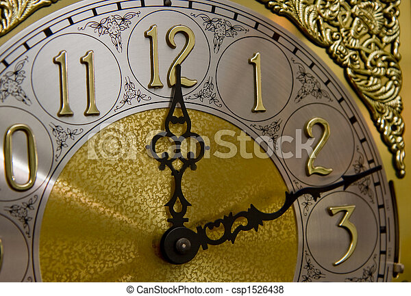 grandfather clock midnight clipart. stock photo twelve on grandfather clock midnight clipart c