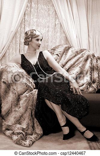 Twenties lady - csp12440467