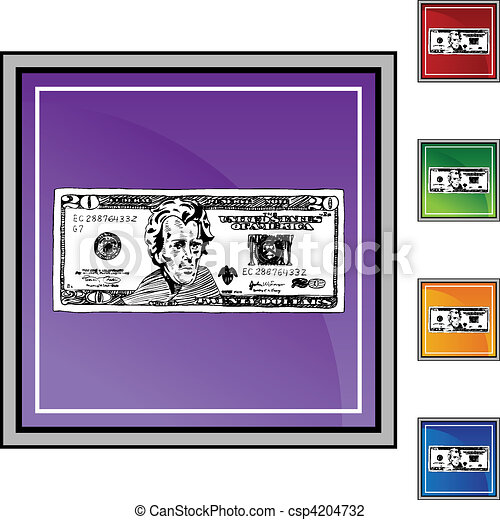 Twenty Dollar Bill - csp4204732