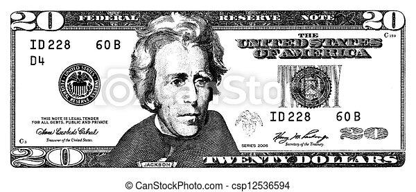 twenty dollar - csp12536594