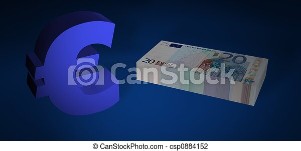 Twenty EURO stack - csp0884152