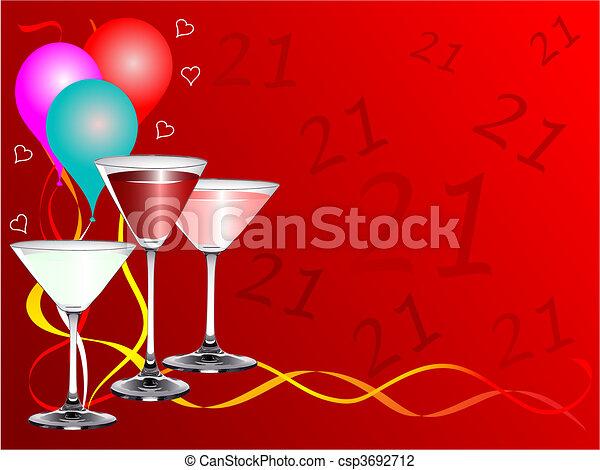twenty first birthday party background template a twenty first