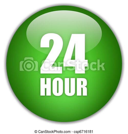 Twenty four hour icon - csp6716181