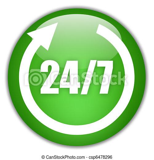 Twenty four seven sign - csp6478296