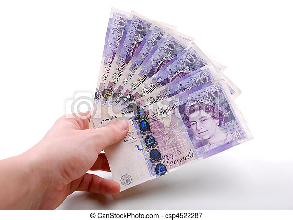 twenty pound notes  - csp4522287