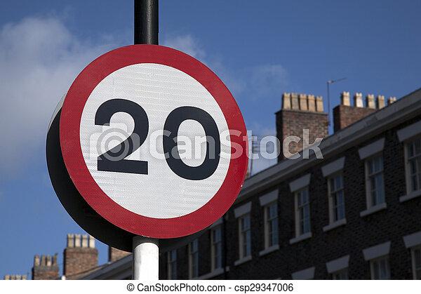 Twenty Speed Sign - csp29347006