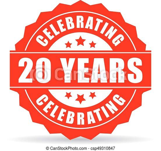 Twenty years anniversary celebrating icon - csp49310847