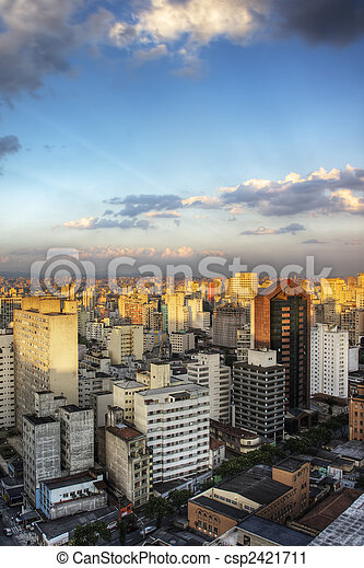 Twilight in Sao Paulo - csp2421711