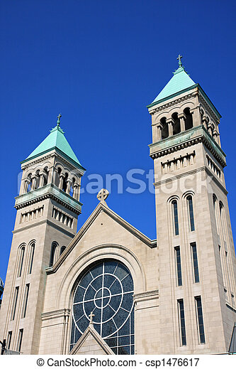 Twin bell towers in lincoln park. Church in lincoln park ...