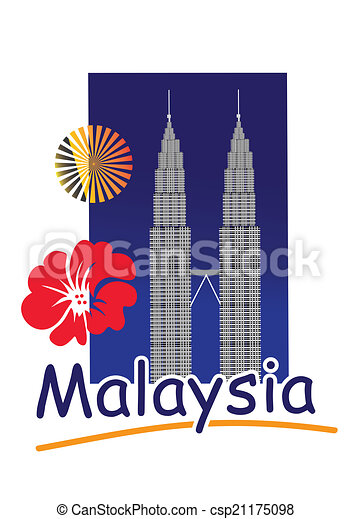 twin tower the petronas tower in kuala lumpur malaysia eps vectors rh canstockphoto com  new york twin towers clipart