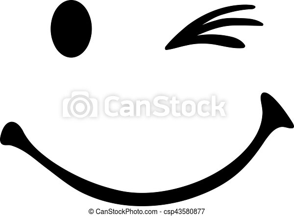 twinking smiley face rh canstockphoto com smiley face vector free download smiley face vector free