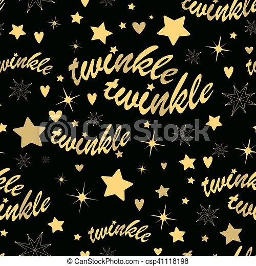 Twinkle stars seamless pattern - csp41118198
